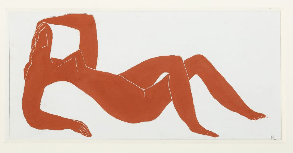Henri Laurens, Femme allongée | Liegende Frau, ca. 1936 Gouache auf Karton, 14 x 29,50 cm Privatsammlung Hamburg Foto: Rüdiger Lubricht, Worpswede © VG Bild-Kunst, Bonn 2018