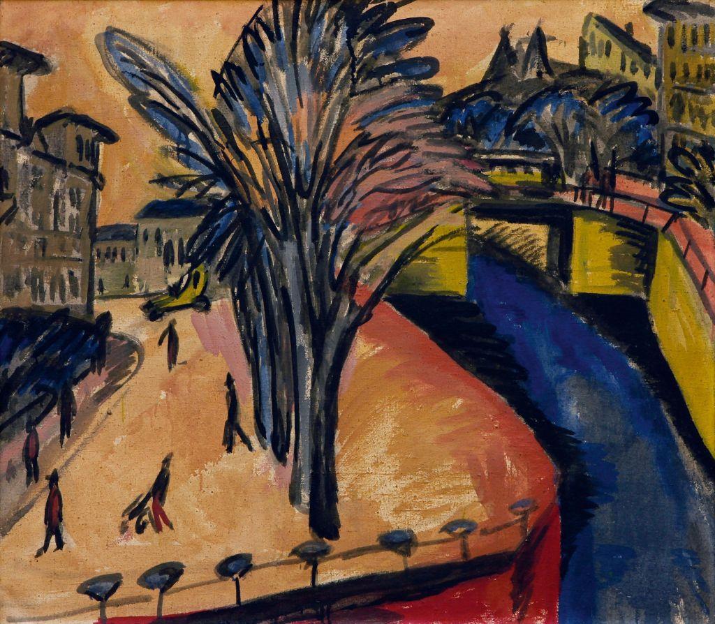 """""""Gelbes Engelufer"""" von Ernst Ludwig Kirchner (1913) gefällt Künstler David Hardy so gut, dass er das Werk für seine #KuMaChallenge ausgewählt hat."""