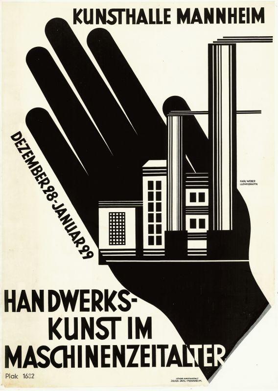 Karl Weber: Handwerkskunst im Maschinenzeitalter, 1928 Foto: MARCHIVUM