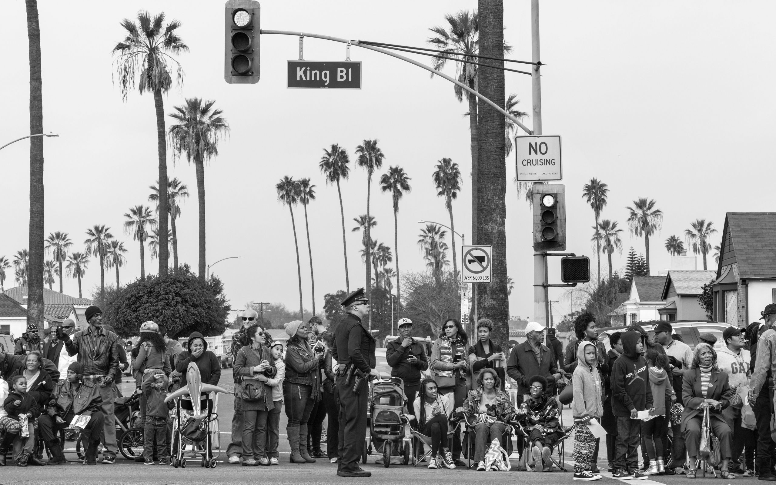 George Georgiou, Martin Luther King Day Parade, from the series Americans Parade, Los Angeles, California, 18/01/2016